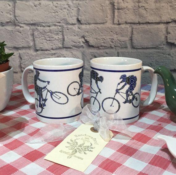 Mug   Word-Art Mountain Biker by SprattsDesigns on Etsy