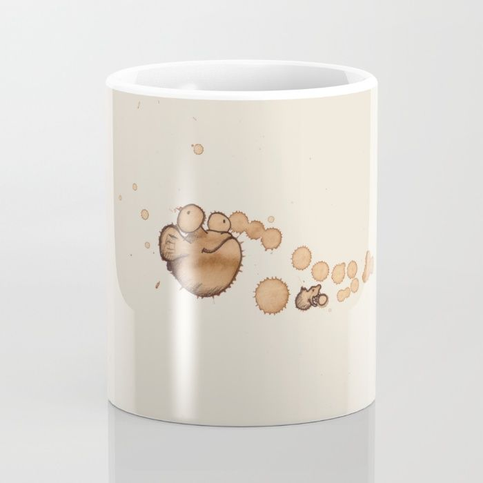 #coffeemonsters 504 Mug by The Coffeemonsters   Society6 funny and cool art coffee mug with monsters made from coffee stains