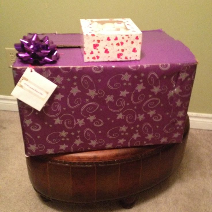 Pink/Purple Diaper Tricycle & 5pack diaper cupcakes packed & ready to go to new Mommy