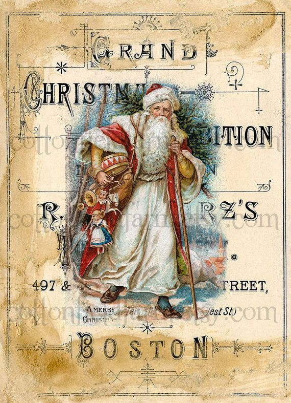 Victorian Santa on Vintage Christmas Exposition by Cottonfieldfarm, $2.25: