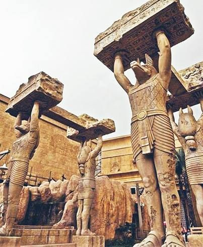 A view of the stone Anubis Guards at the Ancient Egypt zone in Universal Studios Singapore! Be sure to visit when you're in town.