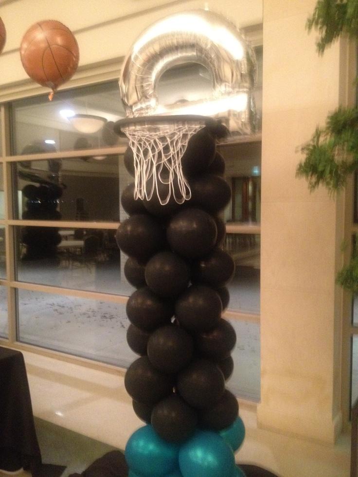 Basketball Hoop Mylar Balloon Pillar | Mylar Mania ...