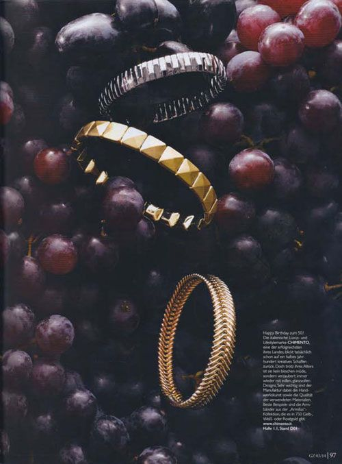 CHIMENTO on GZ magazine with Armillas collection. Discover it on http://www.chimento.it/en/woman/dna/armillas