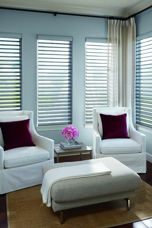Levolor Custom Sheer Shadings In Dresden Light Gray Home Decor Shades Diffused Light