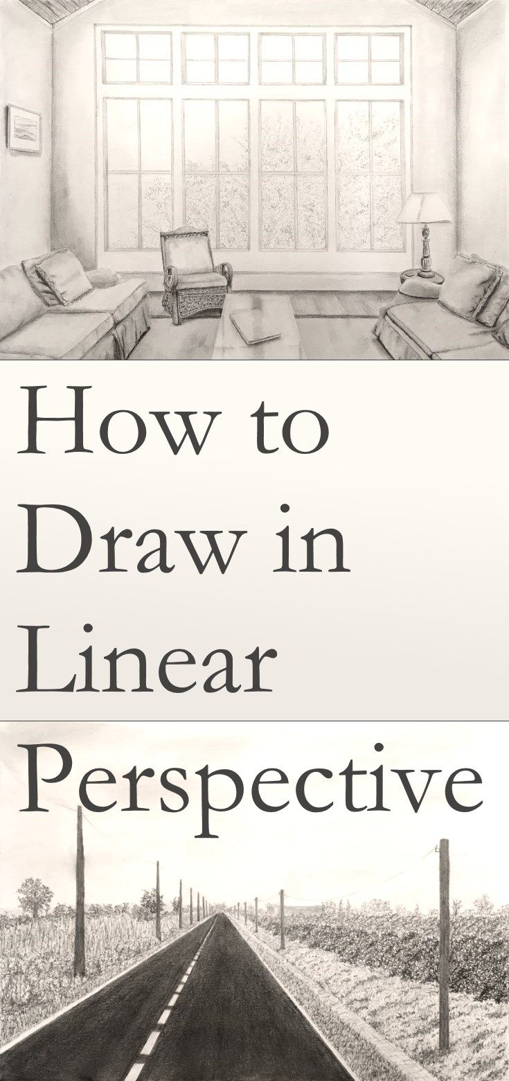 How to draw in linear perspective tutorial. Guide for drawing in perspective for…