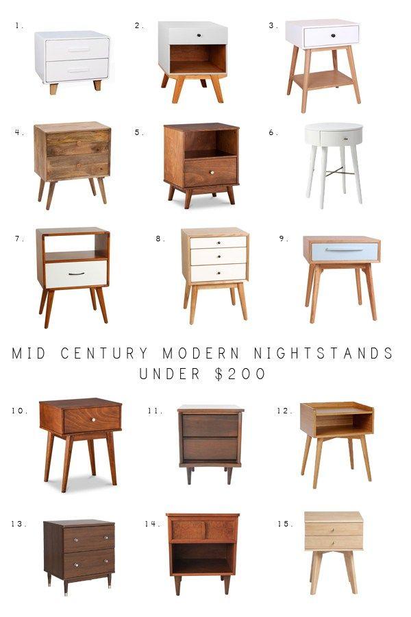 Mid Century Modern Nightstands Under $200