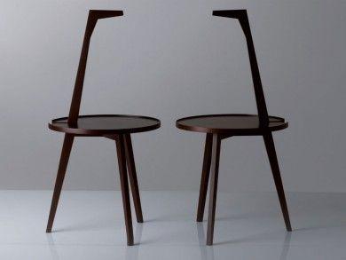 table basse cicognino petite table avec structure et plan en noyer tint acajou designer - Coloration Epicea L Oreal