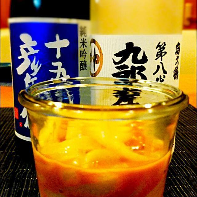 いいイカが手に入ったので、母に教わりながらイカの塩辛作りました。  山形と秋田県で手に入れた日本酒に合う一品が出来上がり( ´艸`) - 69件のもぐもぐ - イカの塩辛作りました\( ˙▽˙ )/ by Kei804
