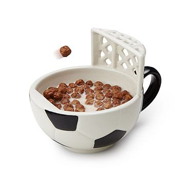 Look what I found at UncommonGoods: The Soccer Mug with a Goal for $24.00