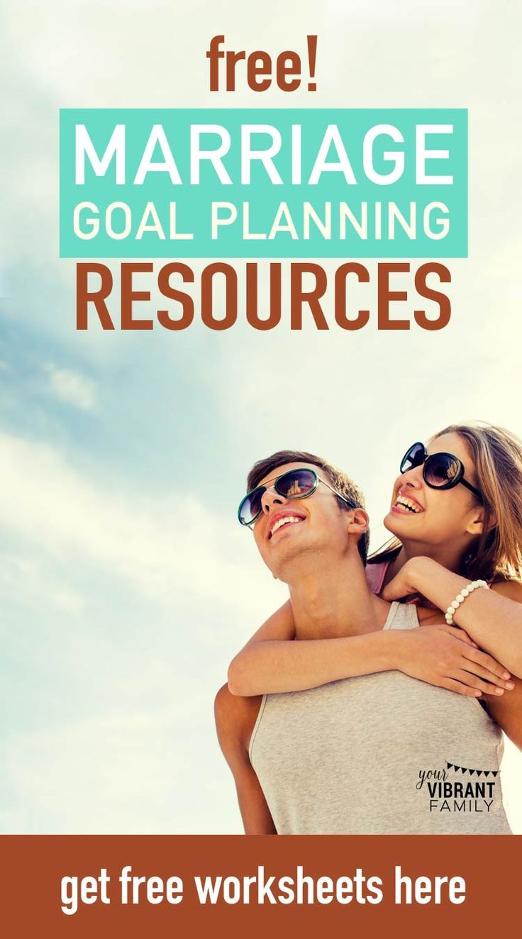 Whether it's a wedding anniversary, a new year or any time you and your spouse are ready to grow your marriage, setting marriage goals is always a great idea. Get examples of marriage goals plus a free marriage goals worksheet so that you can improve your marriage relationship and set healthy relationship goals.  #marriagegoals #marriagegoalscouples #marriage #christianmarriageadvice