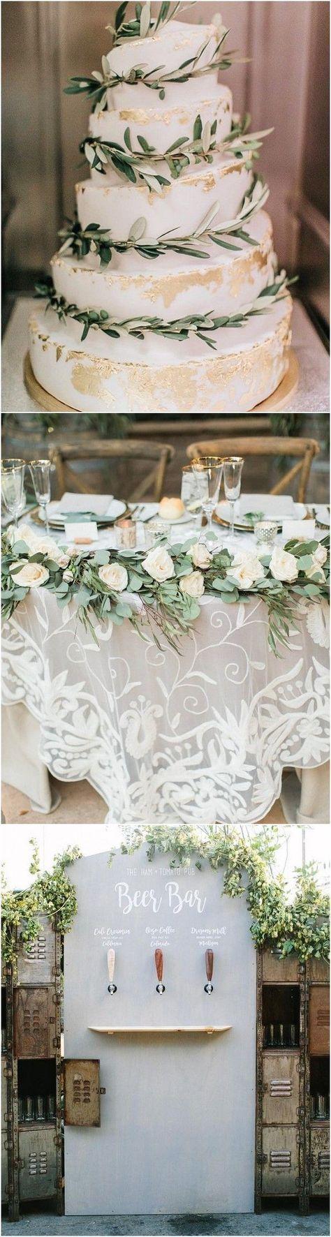 Greenery wedding decor ideas #wedding #weddings #weddingideas #deerpearlflowers …