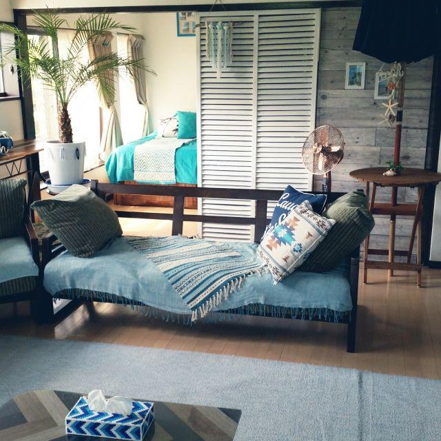 kimさんの、リビング,いつもいいねありがとうございます♡,カリフォルニアスタイル,フォローして頂きありがとうございます!,のお部屋写真