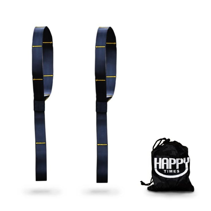 Happy Times Polyester Hammock Tree Straps - 2 Pack, Multi-Use, Hammock Straps, Tree Swing Straps, Hanging Straps