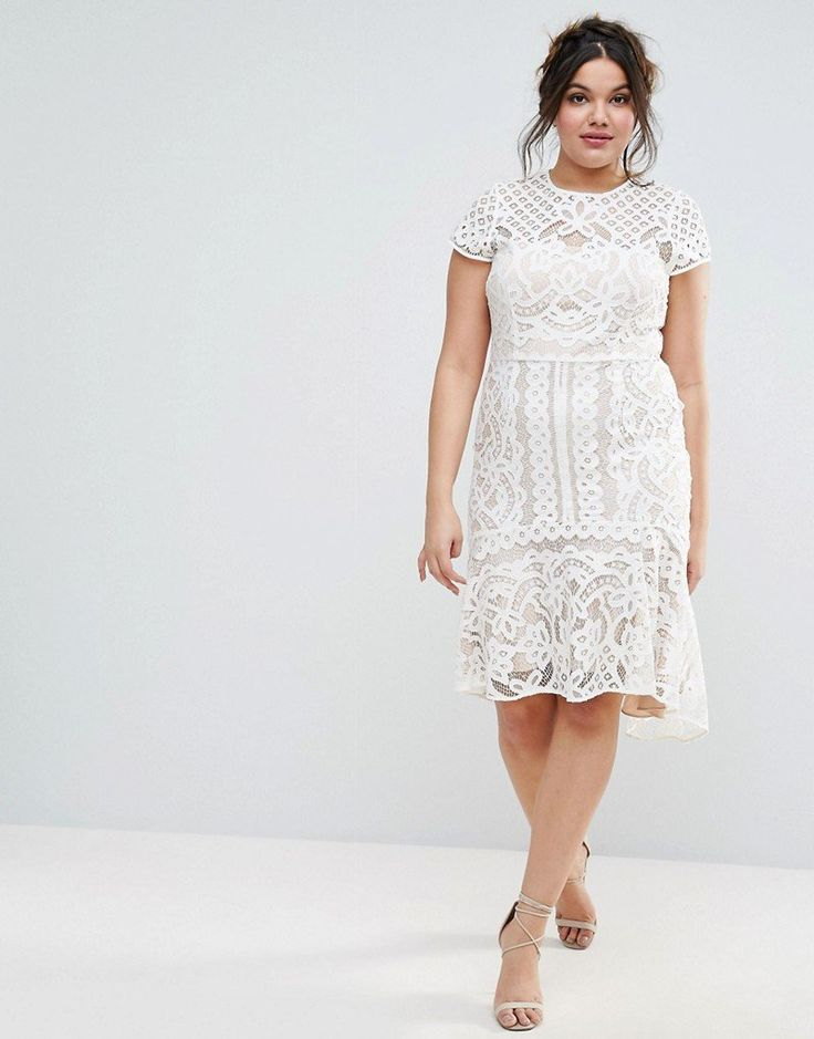 Coast Plus's Dee Dee Lace Peplum Dress ($194) is for more casual brides, but can be jazzed up with sparkling accessories.