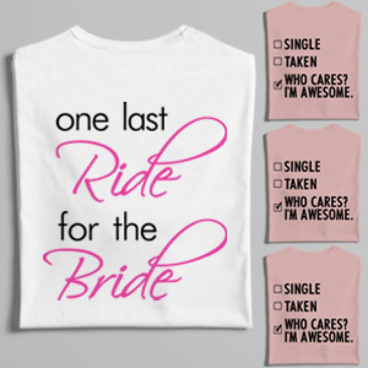 Buy Hen Party Last Ride For The Bride T-Shirts | Worldwide Shipping