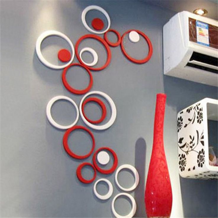 3D Circles Art Wall Sticker   Free Worldwide Shipping!  Only $6.02    Order from: www.happycozyhome.com