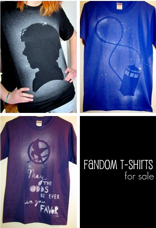 Fandom T shirts for sale -- who sells these? Also, Harry Potter fandom shirt :-)