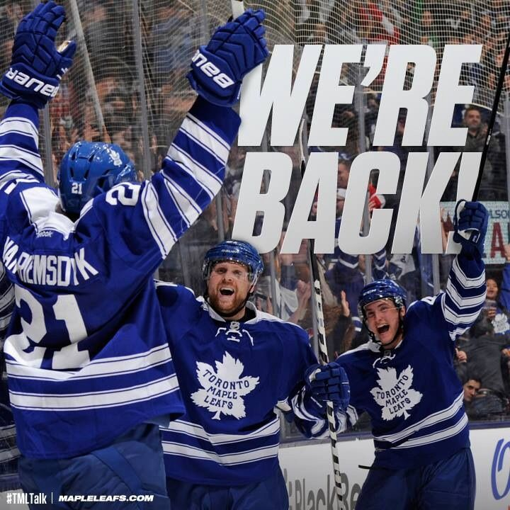 Leafs back after the Olympics