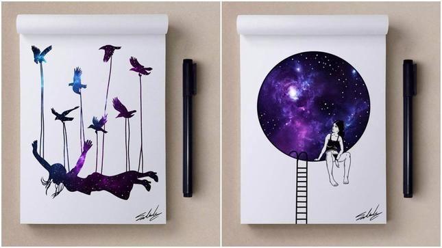 Мохамед Салах (Muhammed Salah) е графичен дизайнер, илюстратор, карикатурист от Кайро, Египет, който представяме със серията му от рисунки, в които главен герой е Вселената - Вселената като Космос; Вселената в човека; Вселената като символ на самия живот.