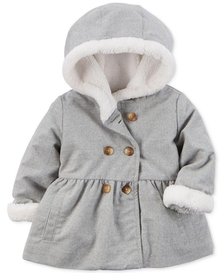 Carter's Baby Girls' Hooded Peplum-Hem Coat