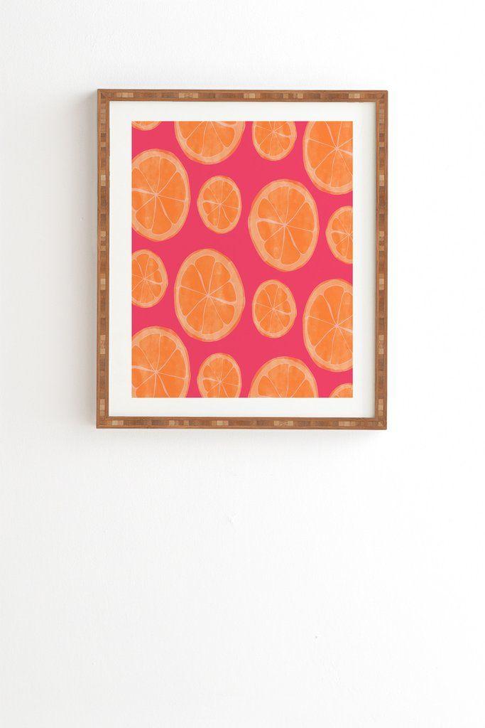 Allyson Johnson What rhymes with orange Framed Wall Art | Deny Designs