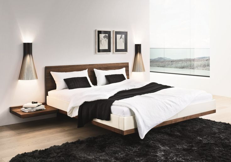 Riletto solid wood platform floating bed - Home Decorating Trends - Homedit