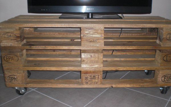 Deco Palette Meuble Tv : Palette De, Clear Ideas, Home Decor, Tvs, Pallets, Meuble Tv Palette
