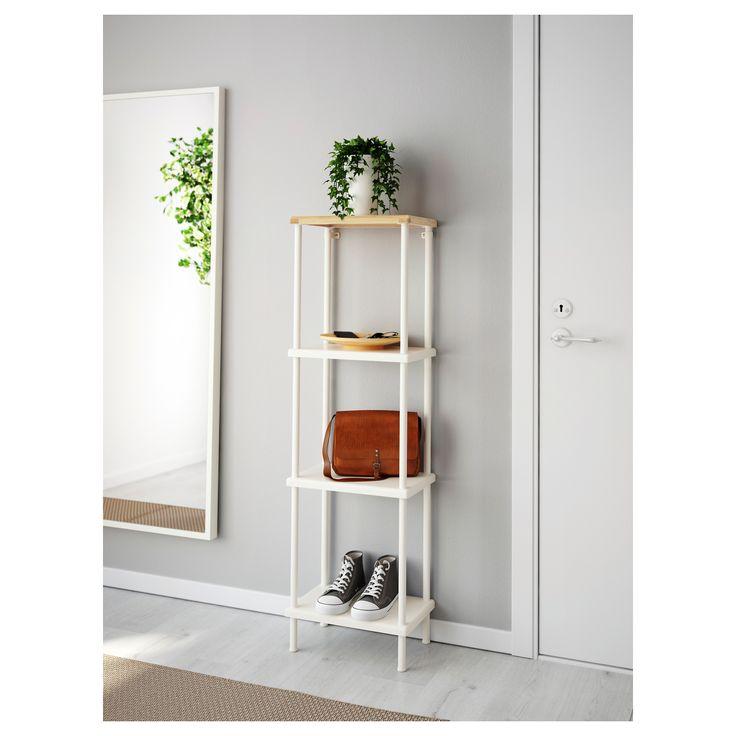 Dynan Shelf Unit White Bamboo Pattern In 2019