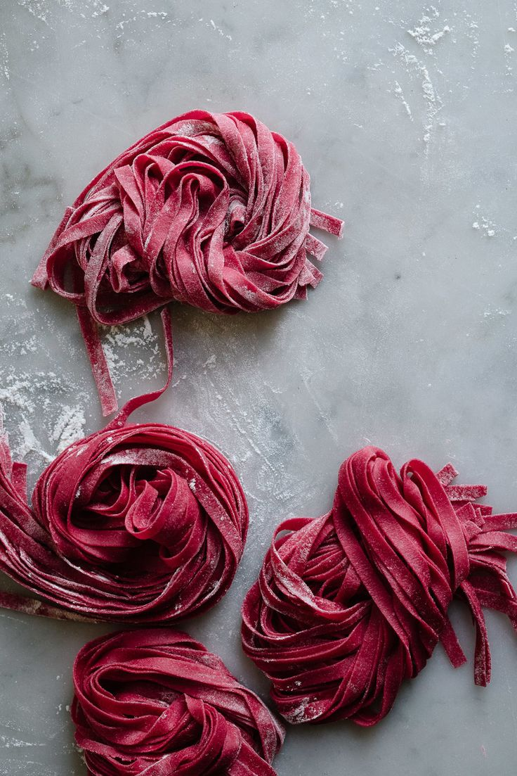 Fresh Beet Pasta.