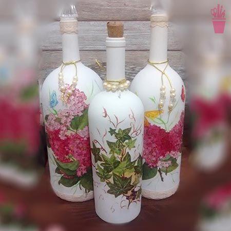 Decupagem na decor das garrafas