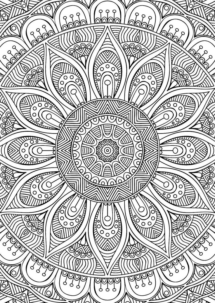 Didzioji mandalu knyga | Coloring pages for adults - Free ...