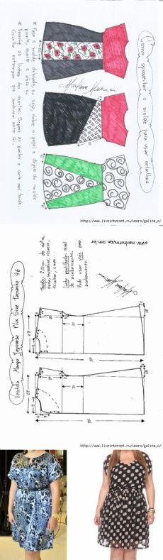 Японский рукав платья плюс размер