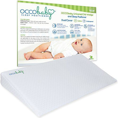 OCCObaby+Universal+Crib+Wedge+and+Sleep+Positioner+for+Baby+Mattress+|+Waterproof+Layer+&+Handcrafted+Cotton+Removable+Cover+|+12-degree+Incline+for+Better+Night's+Sleep
