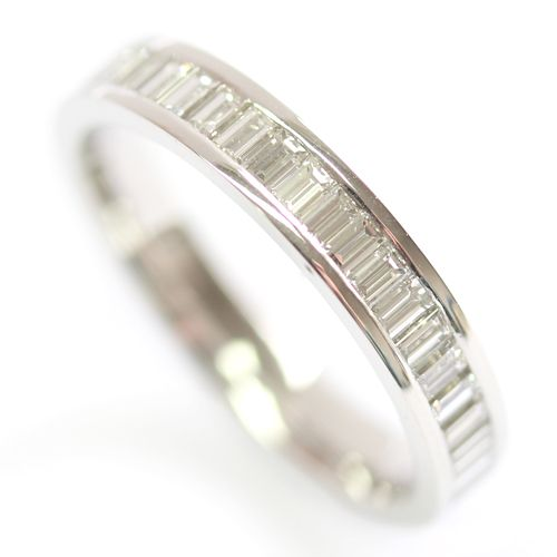 Platinum Baguette Cut Diamond Eternity Ring, Form Bespoke Jewellers, Leeds, Yorkshire