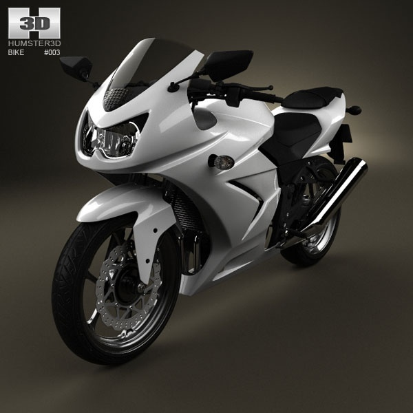 Kawasaki Ninja 250R 3d model from humster3d.com. Price: $75
