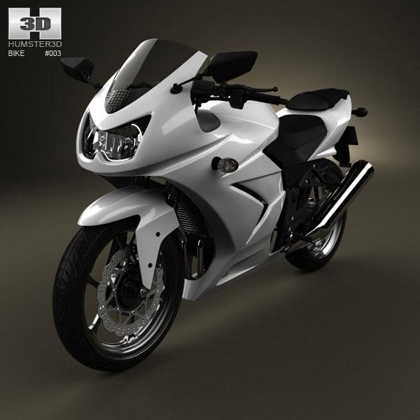 Kawasaki Ninja 250R 3d model from humster3d.com. Price: $75