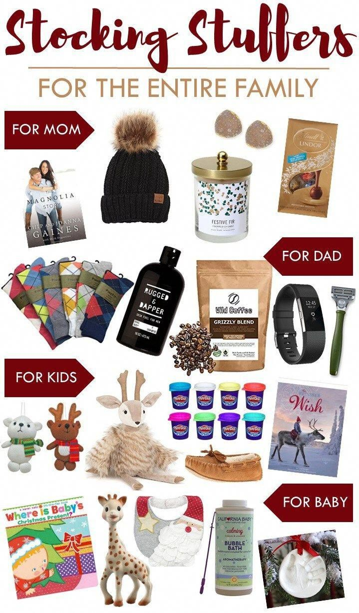 stocking stuffers for the entire family this christmas gifts for mom dad kids