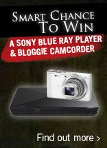 Our Monthly web giveaway sees one lucky winner have the chance to win a Sony Blu-Ray player with a high spec camera for 2nd place!