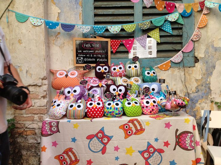 Second day. My craft booth at Merdeka Day Bandits Alley
