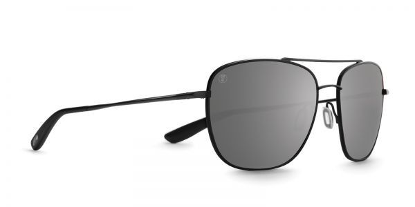 Kaenon - Miramar Matte Black Sunglasses, G12 Polarized Black Mirror Lenses