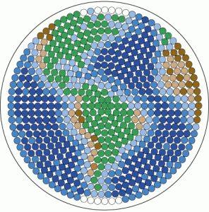 Earth - Cosmos perler bead pattern