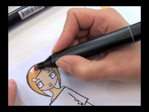 ▶ GRAPH'IT MARKERS - Colorisation d'un tampon by Manuela Jamet - YouTube