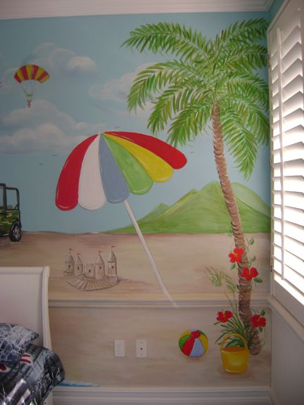 86 best murals images on pinterest for Beach mural painting