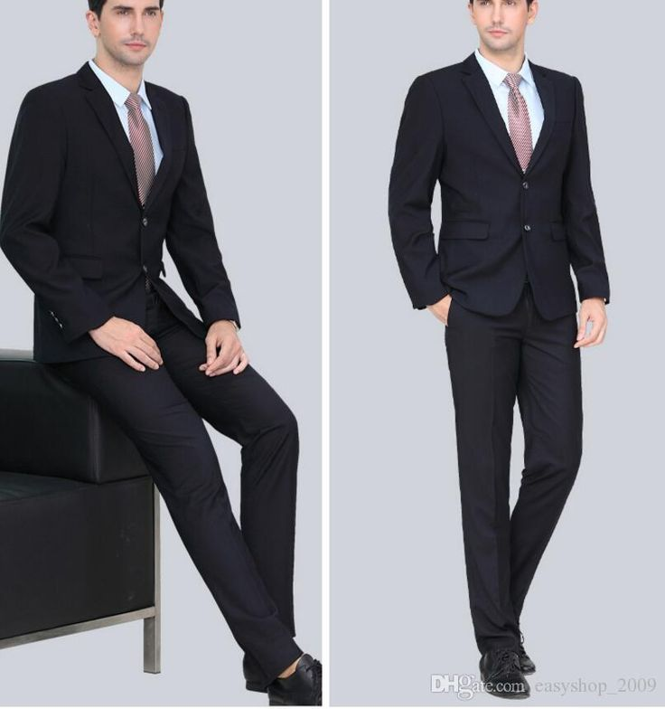 The Most Handsome Custom Men'S Business Suits Elegant Fashion High Quality Pure Black Man Two Piece Suit Formal Groom Suit Mens Tuxedo Jackets Mens Tuxedo Styles From Easyshop_2009, $85.07| Dhgate.Com