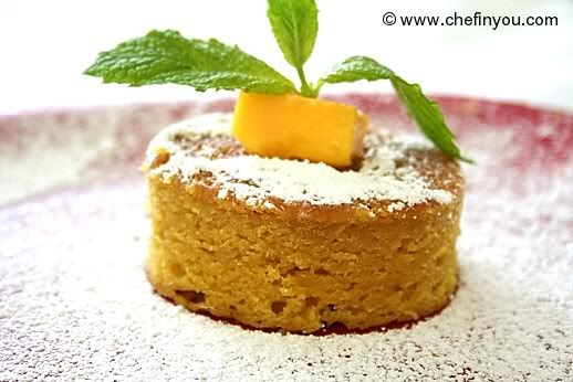 Eggless (Vegan) Mango Cake Its immensely sad knowing that the mango season is slowly going away for the year... See more: http://goo.gl/8IW5xW  #cakerecipes   #mangoes   #dessert   #food   #fruit   #mangorecipe