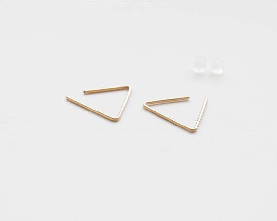 Driehoek hoop Earrings hoop earrings edgy oorbellen