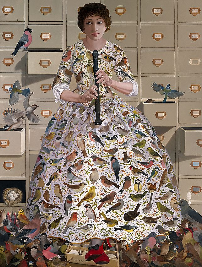 'Personification of the Sense of Hearing' (c.2012) by London-based English artist Lizzie Riches. via our Norfolk