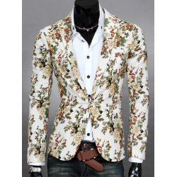 SHARE & Get it FREE | Lapel Flowers Print One Button Design Blazer For MenFor Fashion Lovers only:80,000+ Items • FREE SHIPPING Join Twinkledeals: Get YOUR $50 NOW!