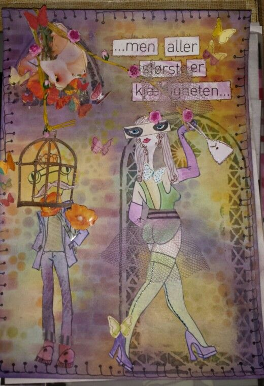 """.... but biggest of all is Love"". Journalpage with pan pastel"