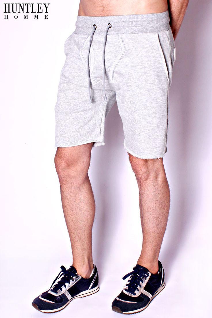 Grey Y-Front Sweat Shorts